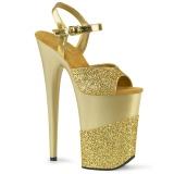 gull glinser 23 cm INFINITY-909-2G høye hæler platå