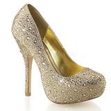 gull glitrende steiner 13,5 cm FELICITY-20 damesko med høy hæl