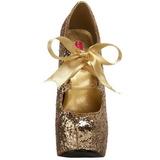 gull glitter 14,5 cm Burlesque TEEZE-10G platform pumps sko