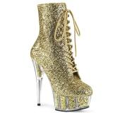 gull glitter 15 cm DELIGHT-1020G ankelstøvletter med platåsåle til dame