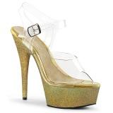 gull glitter 15 cm Pleaser DELIGHT-608HG pole dancing sko