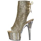 gull glitter 18 cm ADORE-1018G ankelstøvletter med platåsåle til dame