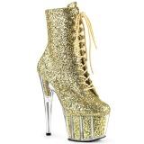 gull glitter 18 cm ADORE-1020G ankelstøvletter med platåsåle til dame