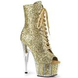 gull glitter 18 cm ADORE-1021G ankelstøvletter med platåsåle til dame