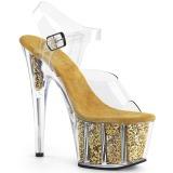 gull glitter 18 cm Pleaser ADORE-708G pole dancing sko