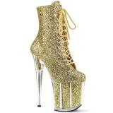 gull glitter 20 cm FLAMINGO-1020G pole dancing ankelstøvletter