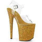 gull glitter 20 cm FLAMINGO-808LG platå høyhælte sandaler sko