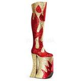 gull glitter 28 cm SPLASHY-3020 overknee støvler til drag queen