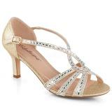 gull glitter 6,5 cm Fabulicious MISSY-03 dame sandaler med hæl