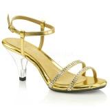 gull glitter 8 cm BELLE-316 dame sandaletter lavere hæl