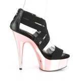 gull krom platå 15 cm DELIGHT-669 pleaser sko med hæler til kvinner