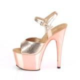 gull krom platå 18 cm ADORE-709 pleaser høye hæler for kvinner