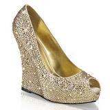 gull krystall stein 13,5 cm ISABELLE-18 wedge pumps kilehæler sko