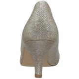 gull krystall stein 6,5 cm DORIS-06 høye pumps aftensko med hæl