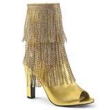 gull kunstlær 10 cm QUEEN-100 store størrelser ankelstøvletter dame