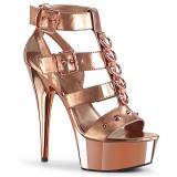 gull kunstlær 15 cm DELIGHT-658 pleaser sko med høye hæler