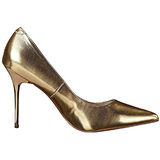 gull matt 10 cm CLASSIQUE-20 dame pumps sko stiletthæl