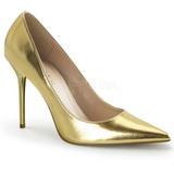 gull matt 10 cm CLASSIQUE-20 spisse pumps med stiletthæler