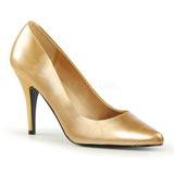 gull matt 10 cm VANITY-420 spisse pumps med høye hæler