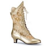 gull matt 5 cm FUNTASMA DAME-115 retro ankel høye støvler
