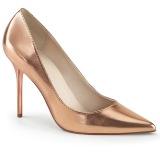 gull rosa 10 cm CLASSIQUE-20 spisse pumps med stiletthæler