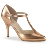 gull rosa 10 cm VANITY-415 t-stropp pumps - s-strap høye hæler
