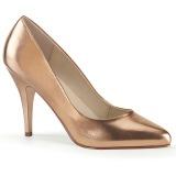 gull rosa 10 cm VANITY-420 spisse pumps med høye hæler