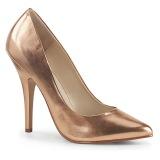 gull rosa 13 cm SEDUCE-420 spisse pumps med høye hæler