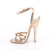 gull rosa 15 cm DOMINA-108 sko med høye hæler for menn