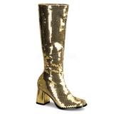 gull spangle 8 cm SPECTACUL-300SQ høye damestøvler til menn