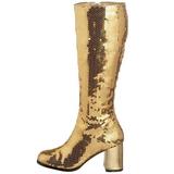 gull spangle 8 cm SPECTACUL-300SQ høye støvler dame
