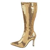 gull spangle 9,5 cm FUNTASMA LUST-2001SQ høye støvler dame