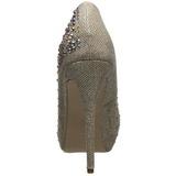 gull strass 13 cm DESTINY-06R høye platform pumps sko