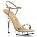 gull strass 13 cm LIP-131 platå høyhælte sandaler sko