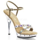 gull strass 13 cm LIP-133 platå høyhælte sandaler sko