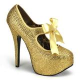 gull strass 14,5 cm TEEZE-04R høye platform pumps sko