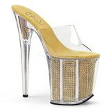gull strass 20 cm FLAMINGO-801SRS dame slip ins med hæler