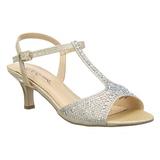 gull strass 6,5 cm AUDREY-05 høye fest sandaler med hæl