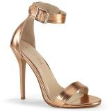 gullrosa 13 cm AMUSE-10 sko med høye hæler for menn