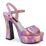 hologram 13 cm DOLLY-09 demonia høyhælede sko med blokkhæl