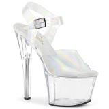 hologram høye hæler 18 cm SKY-308N JELLY-LIKE strekkmateriale platå høye hæler