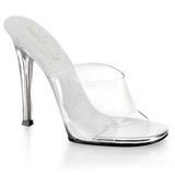 hvit 11,5 cm FABULICIOUS GALA-01 dame slip ins med hæler