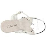 hvit 11,5 cm FABULICIOUS GALA-08 høye fest sandaler med hæl