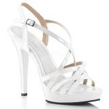 hvit 13 cm Fabulicious LIP-113 dame sandaler med hæl