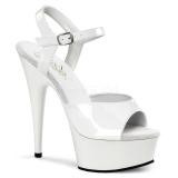hvit 15 cm DELIGHT-609 pleaser høye hæler for kvinner