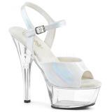hvit 15 cm KISS-209BHG platform høyhælte sko