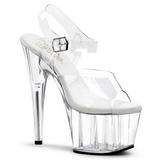 hvit 18 cm ADORE-708 akryl platå høye hæler sko