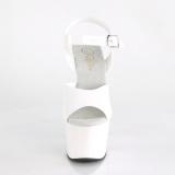 hvit 18 cm ADORE-708N platform høyhælte sko