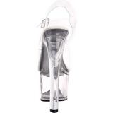 hvit 18 cm TIPJAR-708-5 pole dance sko stripper sandaletter