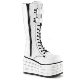 hvit canvas 10 cm MORI-310 demonia støvler platå